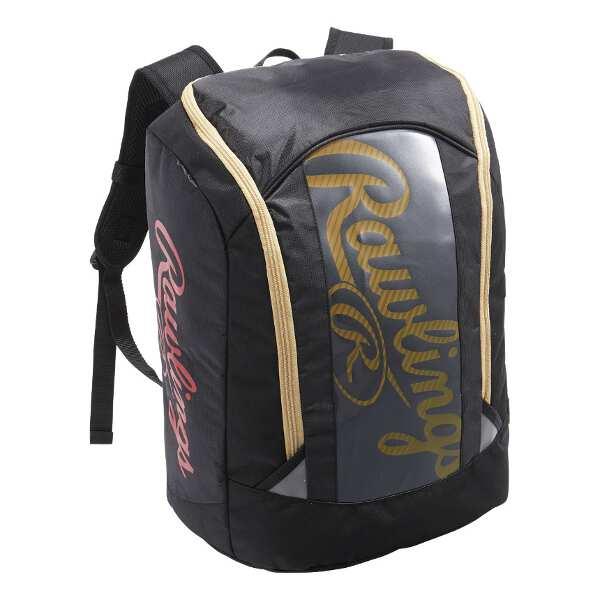 【ローリングス】 バックパック 28L(バット1本収納可) [カラー:ブラック×ゴールド] [サイズ:L34×H44×W24cm(28L)] #EBP8S29-BG 【スポーツ・アウトドア:スポーツウェア・アクセサリー:スポーツバッグ:バックパック・リュック】
