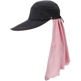 【ジェーンスタイル】 UJ5 ハット UVカット UPF50+ [カラー:ブラック×ピンク] [サイズ:フリー] #JS820-9025 【スポーツ・アウトドア】