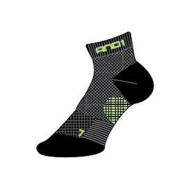 【アンドワン】 AND1 ソックス ハイサポーティングアンクレット [サイズ:L(27〜29cm)] [カラー:ブラック×グリーン] #1412-89 【スポーツ・アウトドア:バスケットボール:ウェア:メンズウェア:ソックス】