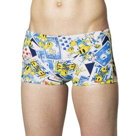 【アリーナ】 TOUGHSUIT ショートボックス [サイズ:L] [カラー:ネイビー・ブルー×イエロー×ブラック] #FSA9610-NVBU 【スポーツ・アウトドア:水泳:競技水着:メンズ競技水着】