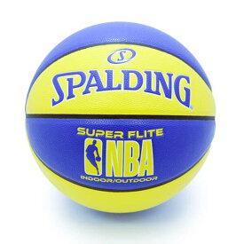 【スポルディング】 スーパーフライト バスケットボール 7号球 [カラー:ブルー×イエロー] #76-350Z 【スポーツ・アウトドア:バスケットボール:ボール】