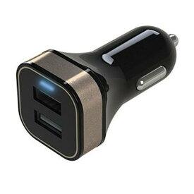 【アークス】 DC/USB 充電器 ゴールド #X‐185 【カー用品:カーアクセサリー:カーチャージャー(充電器)】