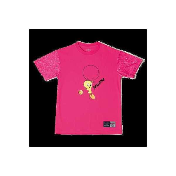 【1500円以上購入で300円クーポン(要獲得) 5/22 9:59まで】 Tシャツ トゥイーティー バルーン [サイズ:L] [カラー:ピンク] #SMT181370 【スポルディング: スポーツ・アウトドア その他雑貨 】【SPALDING T-Shirt TWEETY BALLOON】