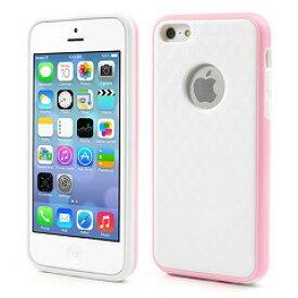 【iPhone5c】 iPhone5c ハイブリッドケース プラスチック&TPU スタイリッシュタイプ ホワイト/ピンク 【電化製品:スマートフォン:iPhoneケース】