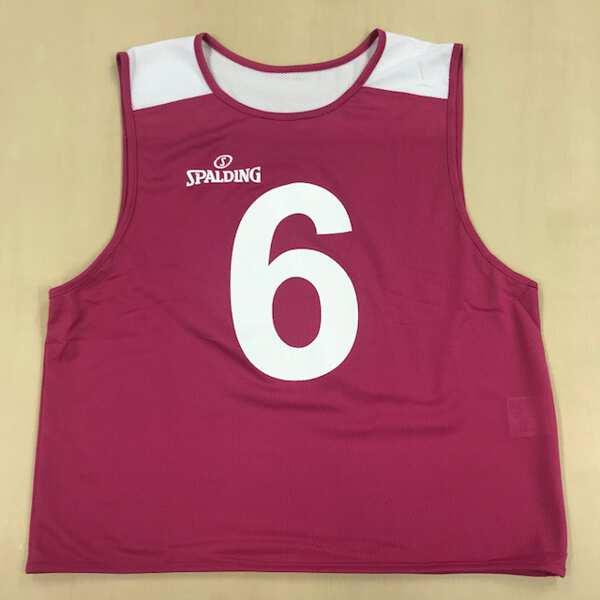 【スポルディング】 ビブス NO.0‐5 6枚セット [カラー:ピンク] [サイズ:フリー] #SUB130180 【スポーツ・アウトドア:その他雑貨】