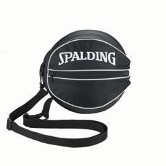 【スポルディング】 バスケットボールバッグ(1個入れ) [カラー:ブラックホワイト] #49-001WH 【スポーツ・アウトドア:スポーツ・アウトドア雑貨】