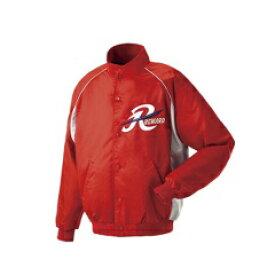 【レワード】 グランドコート セミロングカラー(ボタン付) 野球グランドコート [カラー:レッド×シルバーグレー] [サイズ:O] #GW-04 【スポーツ・アウトドア:野球・ソフトボール:ウェア:グランドコート】