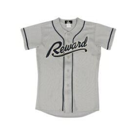 【レワード】 フロントオープンメッシュシャツ ジュニア 野球ユニフォームシャツ [カラー:グレー] [サイズ:150] #JUS-28 【スポーツ・アウトドア:野球・ソフトボール:ウェア:競技用ユニフォーム】