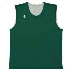 【コンバース】 リバーシブルノースリーブシャツ CB24730 [カラー:グリーン×ホワイト] [サイズ:2XO] #CB24730-4911 【スポーツ・アウトドア:その他雑貨】