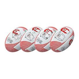 【ギルバート】 レンジ— JRFUマスコットボール ラグビーボール 4号球 #GB-9312 【スポーツ・アウトドア:ラグビー:ボール】