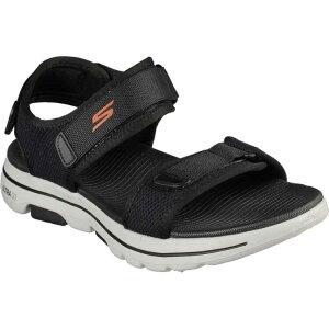 【スケッチャーズ】 GO WALK 5-CABOURG メンズサンダル [サイズ:28.0cm] [カラー: ] #229003-BKOR 【スポーツ・アウトドア:その他雑貨】