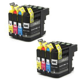 (2個セット) ブラザー ( brother ) LC211 互換インク 4色セット ( IC付 残量表示OK ) (ゆうパケット送料無料) 【TIME】【stm】