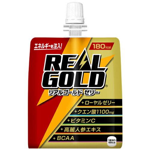 リアルゴールドゼリー 180g×6本 コカ・コーラ直送商品以外と 同梱不可 【D】【サイズB】【stm】