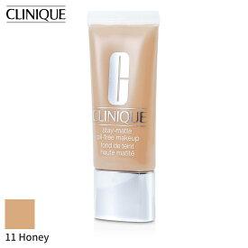 クリニーク リキッドファンデーション Clinique ステイ マット オイル フリー メイクアップ - # 11 Honey (MF-G) 30ml フェイス カバー力 人気 コスメ 化粧品 誕生日プレゼント ギフト