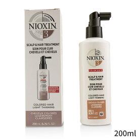 ナイオキシン トリートメント Nioxin Diameter System 3 Scalp & Hair Treatment (Colored Hair, Light Thinning, Color Safe) 200ml ヘアケア 人気 コスメ 化粧品 誕生日プレゼント ギフト