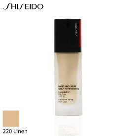資生堂 リキッドファンデーション Shiseido シンクロ スキン セルフ リフレッシング ファンデーション SPF 30 - # 220 Linen 30ml メイクアップ フェイス カバー力 人気 コスメ 化粧品 誕生日プレゼント ギフト