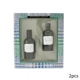 ジェフリービーン セット コフレ Geoffrey Beene ギフトセット Grey Flannel Coffret: Eau De Toilette Spray 120ml/4oz + After Shave Lotion (Green Box) 2pcs メンズ 男性用 お試し フレグランスセット おしゃれ 人気 コスメ 化粧品