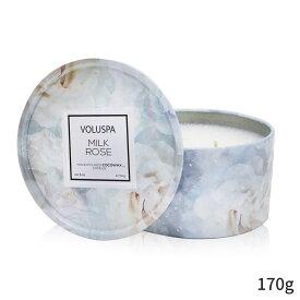 ボルスパ アロマキャンドル Voluspa キャンドル おしゃれ 可愛い 2 Wick Tin Candle - Milk Rose 170g ホームフレグランス 人気 コスメ 化粧品 誕生日プレゼント ギフト