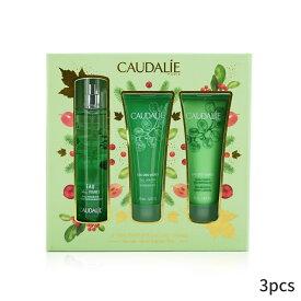 コーダリー セット&コフレ Caudalie ギフトセット Eau Des Vignes Christmas Coffret: Fresh Fragrance Spray 50ml + Shower Gel Body Lotion (Green Line) 3pcs レディース 女性用 お試し フレグランスセット おしゃれ 人気 コスメ 化粧品