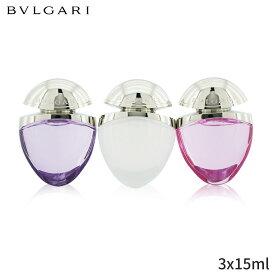 ブルガリ セット&コフレ Bvlgari ギフトセット The Omnia Jewel Charms Collection: Amethyste Eau De Toilette Spray + Crystalline Pink Sapphire 3x15ml レディース 女性用 お試し フレグランスセット