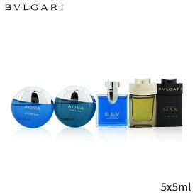 ブルガリ セット コフレ Bvlgari ギフトセット The Men's Gift Collection: Man In Black Eau De Parfum + Wood Essence Aqva Toilette Atlantique Blv 5x5ml メンズ 男性用 お試し