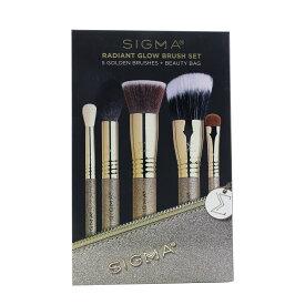 シグマビューティ セット&コフレ Sigma Beauty ギフトセット Radiant Glow Brush Set (5x Golden Brush, 1x Bag) 5pcs+1bag メイクアップ メイクアップセット おしゃれ 人気 コスメ 化粧品 誕生日プレゼント ギフト