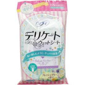 ソフィ デリケートウェットシート フレッシュグリーンの香り 12枚入【生理 衛生 シート】