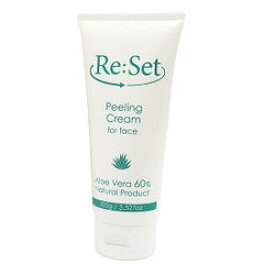 Re:Set 顔専用ピーリングクリーム 【リセット 美容 スキンケア 植物性 コスメ アロエベラ 角質対策 フェイスケア】