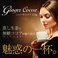【ゆうパケット等で送料無料3】無糖ショウガココア 170g