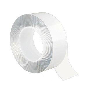 両面テープ 魔法テープ テープ 超強力 のり残らず 繰り返し 防水 耐熱 強力 滑り止め 洗濯可能 (5cmx2mmx1m)