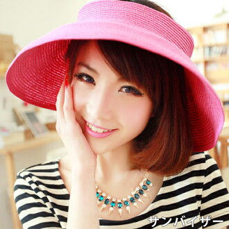 Straw Hat straw turu Hat UV UV protection awnings Hat ladies women's large size visor Courier shipping