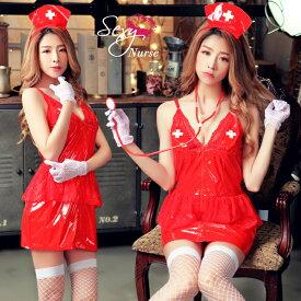 ハロウィン コスプレ ナース ナース服 セクシー 仮装 衣装 コスチューム red 赤 レッド ナースコスプレ ハロウィン仮装 コスプレ衣装 レディース 通販 おもちゃ 聴診器 大人 女性