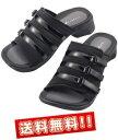 【送料無料】【プラスコンフォート】アーチサポートサンダル 黒 PLUS comfort S・M・L 3サイズ