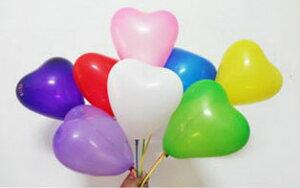 ハート 形 風船 ゴム風船 バルーン 14個セット 7種各2個 赤 白 桃 紫 緑 黄色 青 1set パーティー 誕生日 バースデー にぎやかし/イベント ギフト ウエディング プレゼント クリスマス ハロウィ
