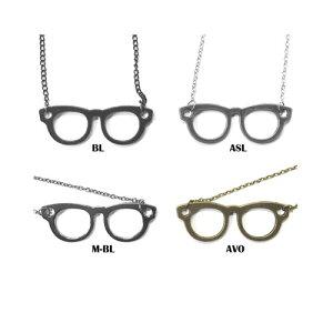 W6.2cm めがね シンプル ネックレス 可愛い かわいい きれいめ イベント ダンス メンズ レディース アクセサリー ボール チェーン アクセ 銀 黒 銅 フレーム メガネ 眼鏡 眼 がね