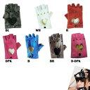 ハート抜き 指なし手袋フィンガーレス グローブ レザー レディース 手袋 指なし 指無し 指切りパーティ— イベント コ…