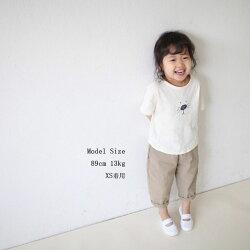 リネン8分丈ゆるパンツゆったりサルエルパンツキッズナチュラルリネンパンツ夏女の子男の子子供韓国子供服シンプル無地7分丈韓国こども服