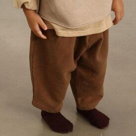 ゆる可愛シルエット!ワイドパンツ ナチュラル キッズ ベビー 女の子 男の子 子供 韓国子供服 シンプル 無地 ズボン ボトムス スウェット 韓国こども服