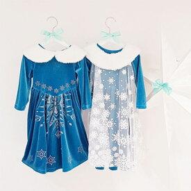 SALE 雪の結晶ドレス 女の子 ロング ワンピース 韓国子供服 韓国こども服 長袖 ワンピース 子供 キッズ 女の子 記念日 写真撮影 バースデイ 誕生日プレゼント