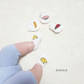 夏用 ベビー 靴下 ショート 4足セット ソックス ベビー 靴下 カバーソックス 赤ちゃん 子供 キッズ 綿 靴下 男の子 女の子 ソックス 韓国子供服 出産祝い