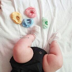夏用 ベビー 靴下 ショート 5足セット ソックス ベビー 靴下 カバーソックス 赤ちゃん 子供 キッズ 綿 靴下 男の子 女の子 ソックス 韓国子供服 出産祝い