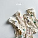 フラワーソックス 3足セット ベビー キッズ 靴下 韓国子供服 クルーソックス 男の子 女の子/ベビー/子供/ジュニア/リ…