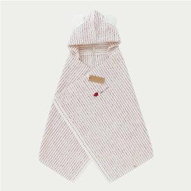 【送料無料】 Mill-Feuille (レッド) コンテックス フード付きバスタオル (女の子/今治/タオル/コンテックス/kontex/日本製/オーガニック/ベビーバスローブ/出産祝い)