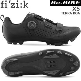 フィジーク X5 TERRA BOA ブラック/ブラック 自転車 シューズ MTB マウンテンバイク用