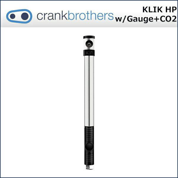 Crank Brothers(クランクブラザーズ) クリック HP(メーター/CO2カートリッジ付) ポンプ (16116) 自転車 空気入れ 携帯ポンプ