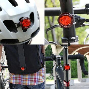 キャットアイ(CATEYE)SL-WA10(WEARABLEmini)フラッシングライトUSB充電式薄型セーフティライト自転車ライト(4990173033515)bebike