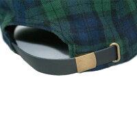 BB556帽子キャップコットンチェック柄本革アジャスター6パネルフリーサイズメンズレディースbebroビブロ
