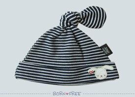ベビーキャップ ぼうし 『 BORN FREE ( ボンフリー ) ボーダー キャップ コン 』 ベビー用品 出産祝い おしゃれ かわいい 日本製 女の子 男の子 赤ちゃん