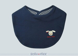 よだれかけ スタイ ビブ 『 BORN FREE ( ボンフリー ) リバーシブル 丸型 スタイ 顔 コン 』 ベビー用品 出産祝い おしゃれ かわいい 日本製 女の子 男の子 赤ちゃん