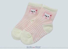 BORN FREE ( ボンフリー ) ソックス まど ピンク ベビー用品 出産祝い おしゃれ かわいい 日本製 女の子 男の子 赤ちゃん